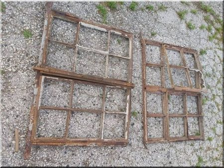 Öreg vas ablakok