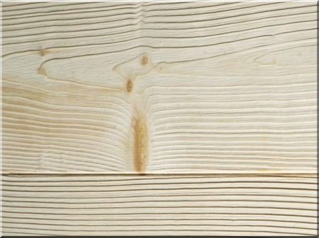 Brushed pine boards