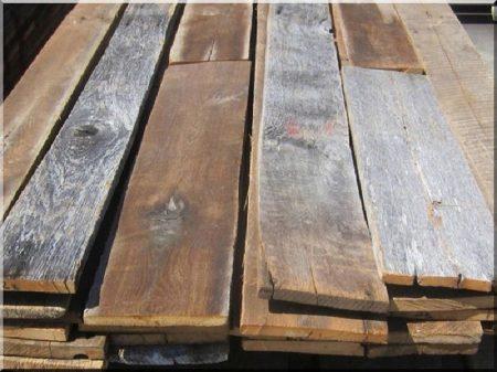 Dismantled planks