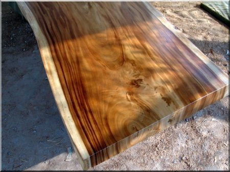Dried acacia plank