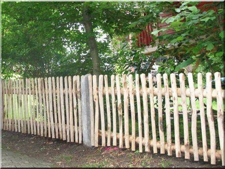 Felezett akác kerítéselem 4 - 6 cm