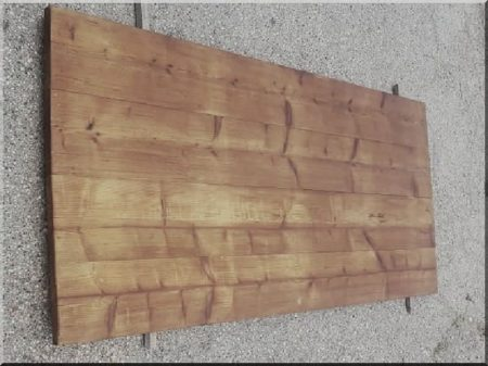 Table top with antique pine planks