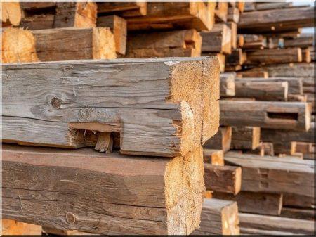 Antique wood materials