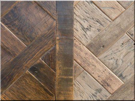 Olajozott parketta antik faanyagból -