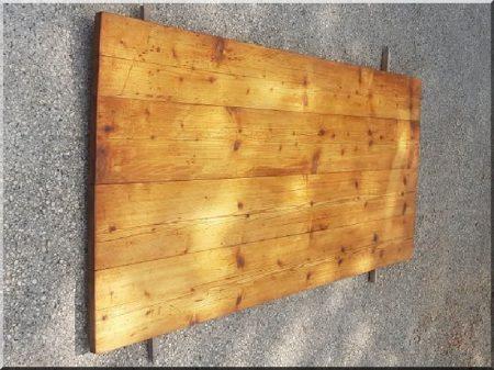 Dessus de table en planche de pin antique