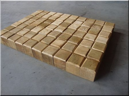Würfel Holzpflaster aus Robinie