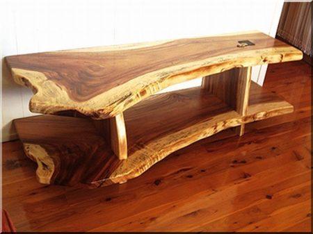 Oak log table