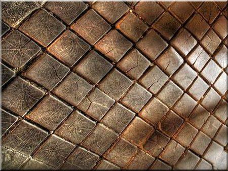 Antique wooden cubes