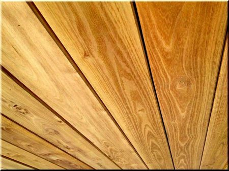 Sawed, planed acacia planks