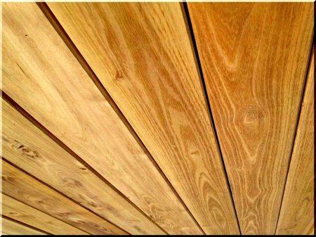Sawed, planed acacia planks