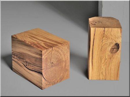 Wooden logs, beams