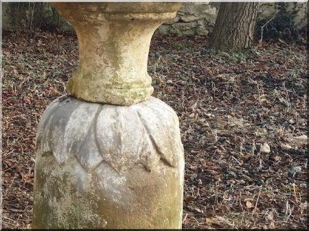 Carved granite column