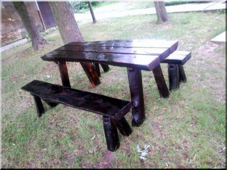 Old beech garden furniture