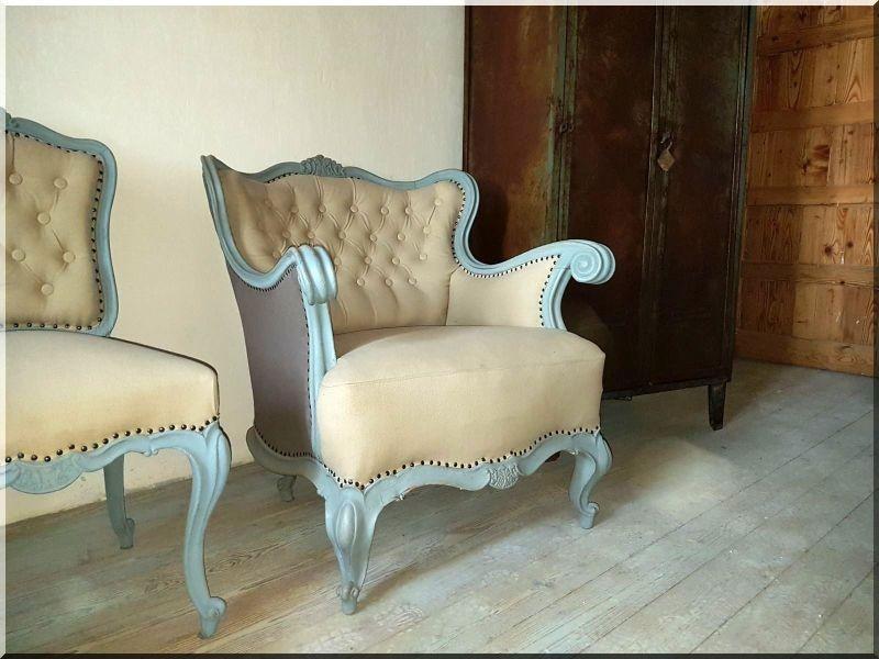 vintage bútor, neobarokk fotel