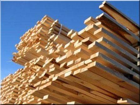 Sawn fir fence plank