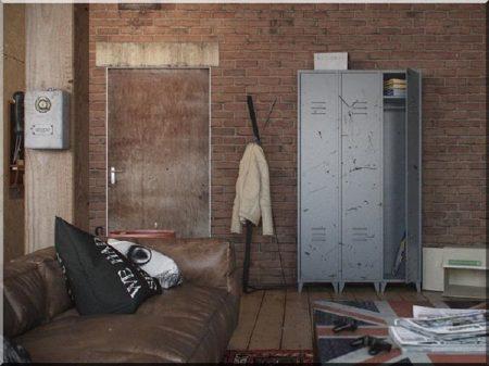 Lemezszekrény, ipari stílusú bútor