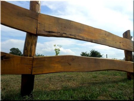 Planche de clôture en chêne