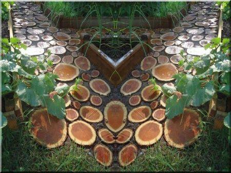 12 cm dicke Akazienholzscheiben für den Außenbereich