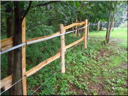 Schmale Robinienbretter für Viehzäune
