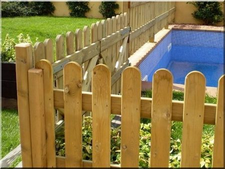 Fence from pine