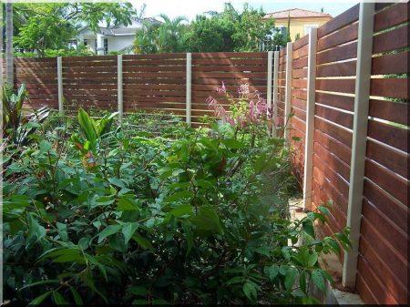 Acacia fence piece