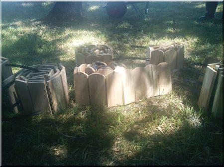 Fa ágyásszegély bükk fából