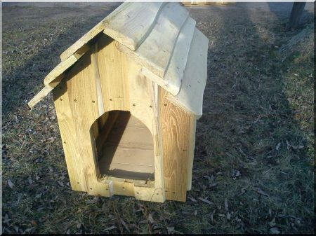 Insulated dog-kennel from edged locust planks, size II