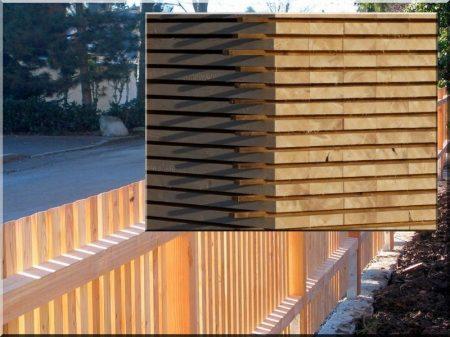 Acacia fence, 1 metre