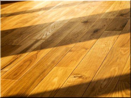 Oak floorboarding