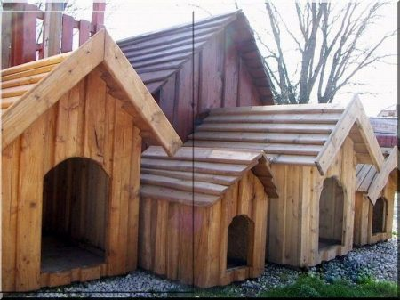 Dog-kennel from pine planks, size IV