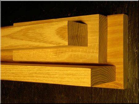 Planed acacia plank
