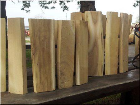 Rustic acacia garden border 36 cm high