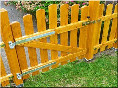 Fenyő kerítés, 0,6 m magas
