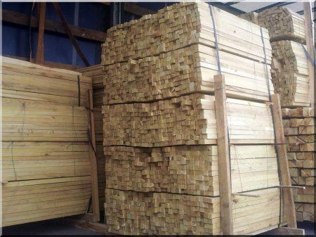 Acacia stakes, 25 x 25 mm, 1,2 metre long