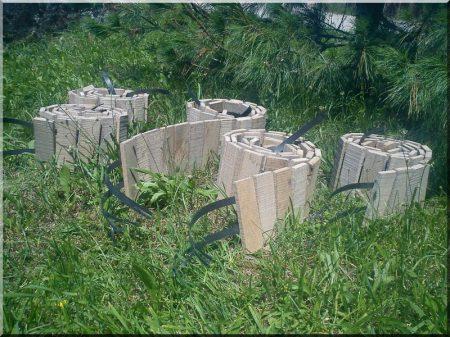 Fa ágyásszegély antik tölgyből -
