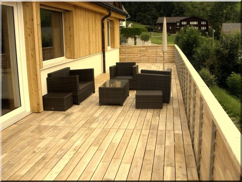 Terrasse en robinier ou faux acacia  Terrasse robinier (faux acacia