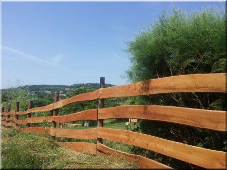 Elément de clôture d-acacia avec du bord, large, 25 mm
