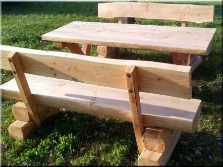 Locust garden bench