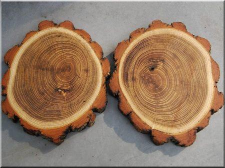 8 cm dicke Akazienholzscheiben für den Außenbereich