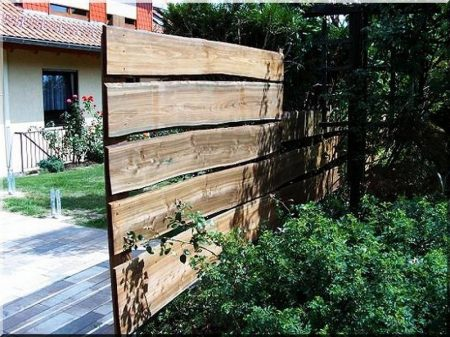 Larch fence plank