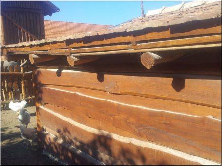 Akác kerítés, rusztikus, szerelt, zárt -