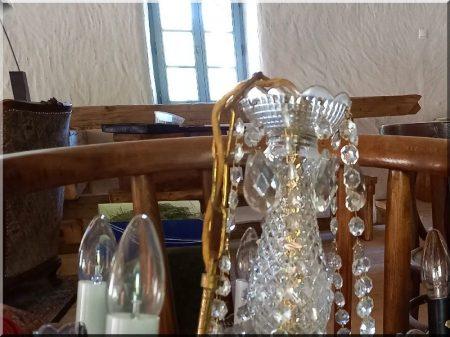 Kronleuchter, Glas, 5-armig