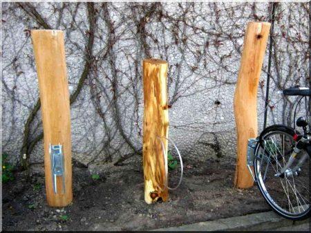 Holzpfahl Robinie, entrindet, geschliffen, 14 - 18 cm