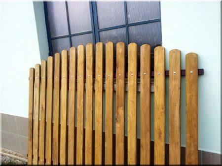 Gartenzaun aus Robinienholz, 1,2 m