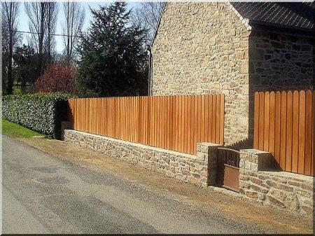 Acacia fence, 1,4 metres long
