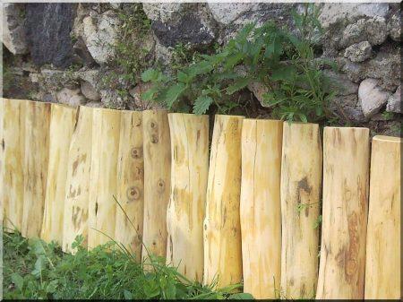 Garten Einfassung, 40 cm hoch aus Akazienholz