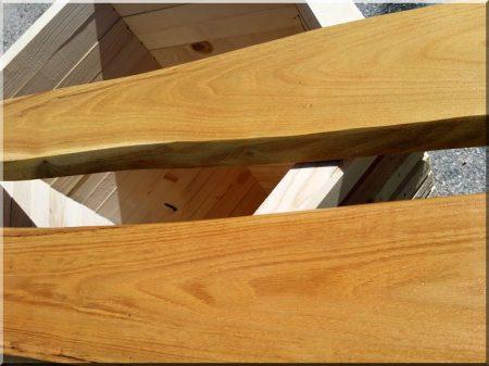 Eléments de clôture d-acacia rustique, épais de 3 cm