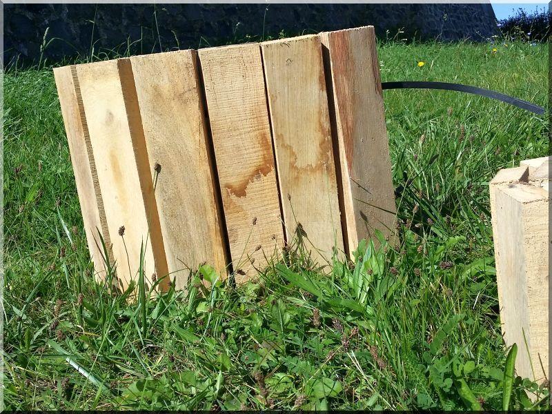 Fa ágyásszegély, 30 cm- es