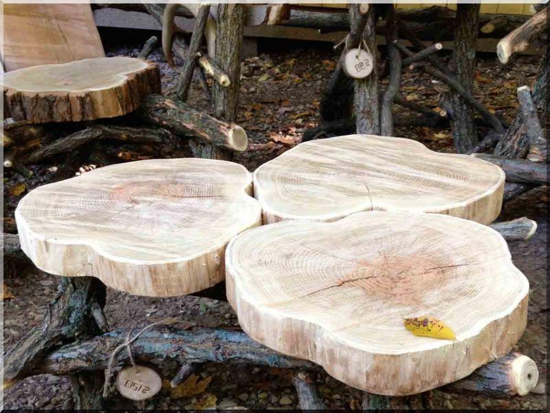 Tipegő, 6 cm vastag, akác fa
