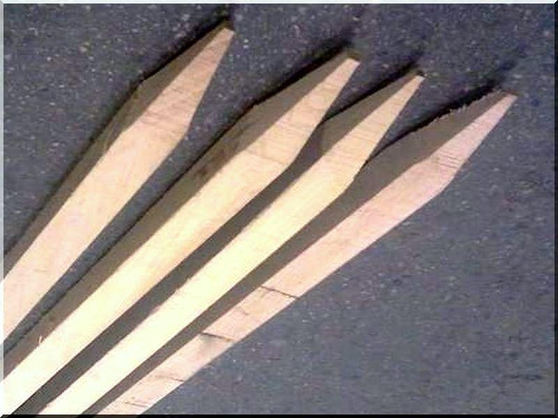 Akác karó, 25 x 25 mm- es, 1,0 méter hosszú
